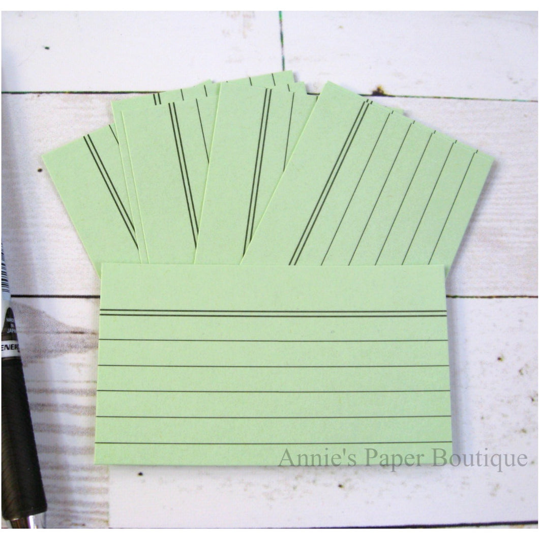Mint Mini Index Cards