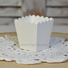Natural White Mini Popcorn Boxes