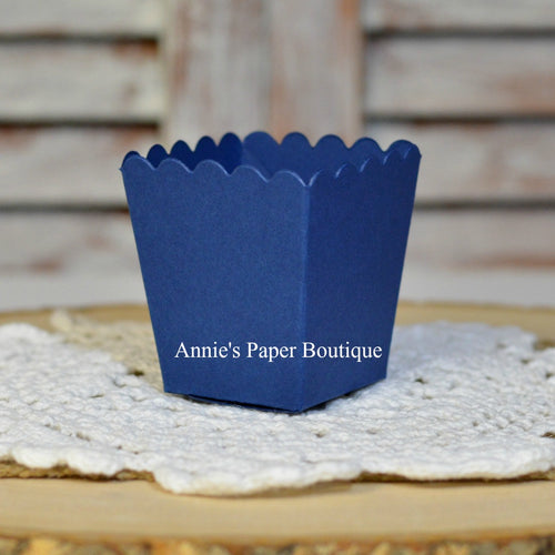 Navy Blue Mini Popcorn Boxes