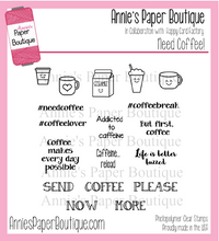 Need Coffee Planner Stamps - 4x4