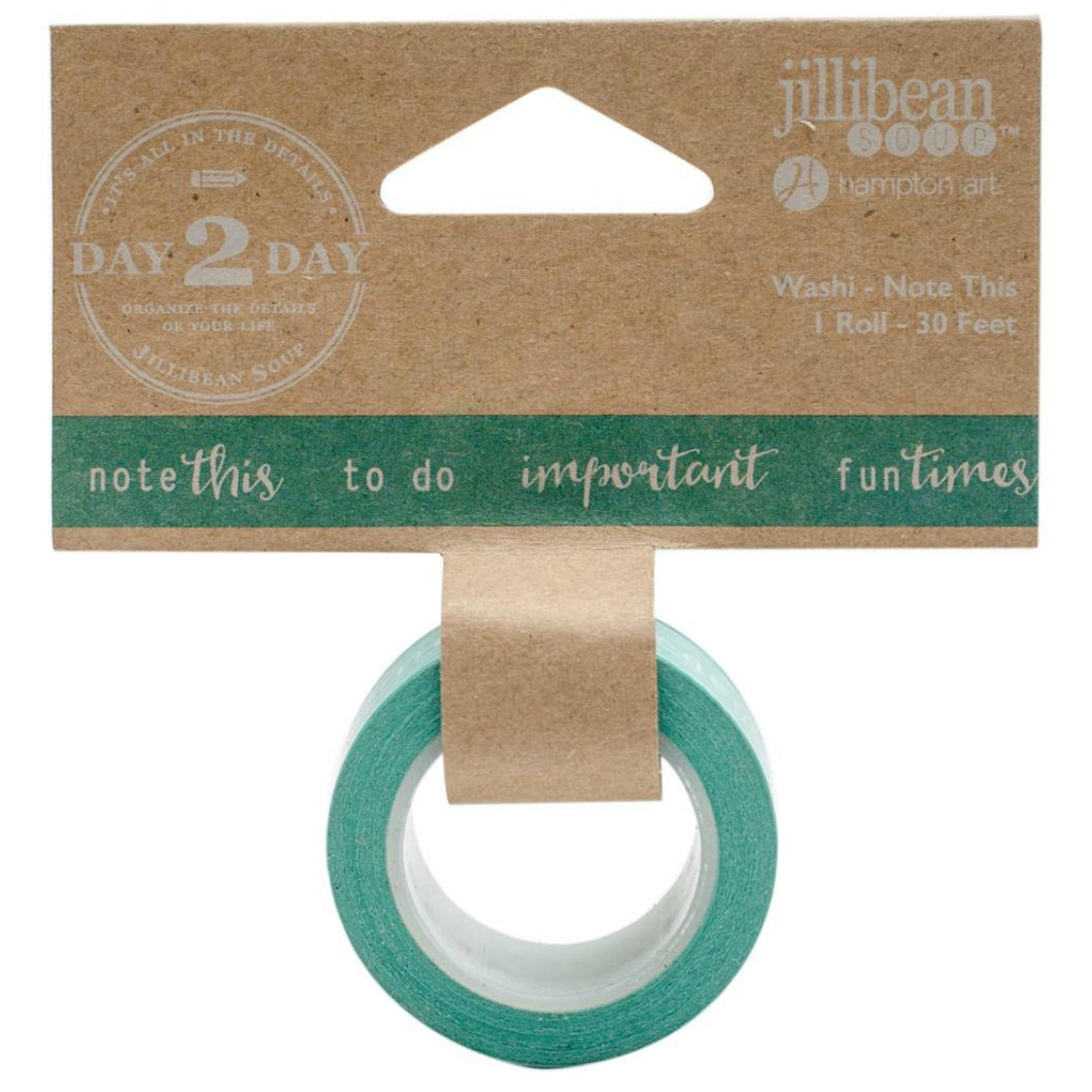 Note This Jillibean Washi tape