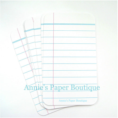 Filler paper journaling cards