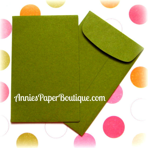 Olive Coin Envelopes