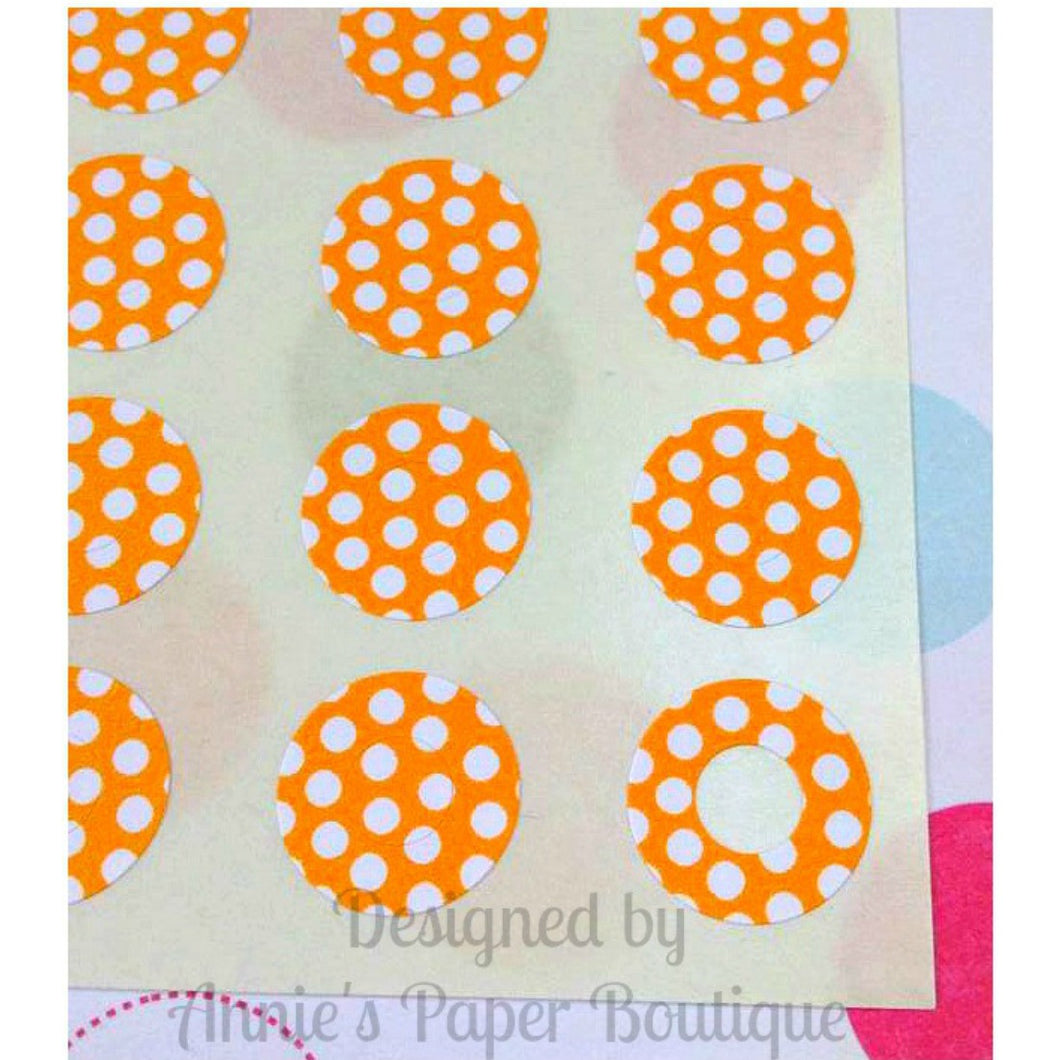 Orange & White Polka Dots Trendy Page Dots™ - Hole Reinforcers, Planner Stickers