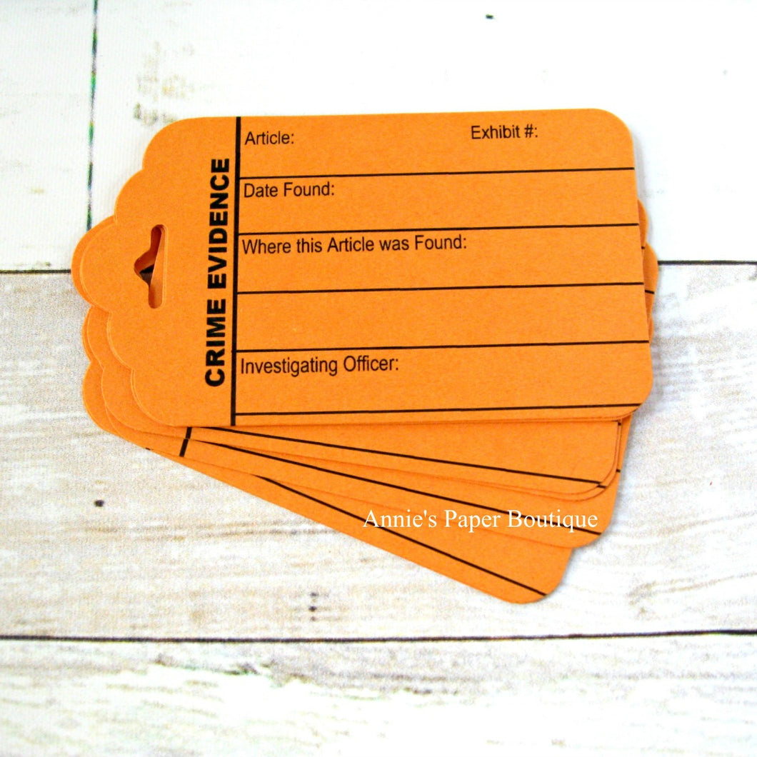 Orange Crime Evidence Tags