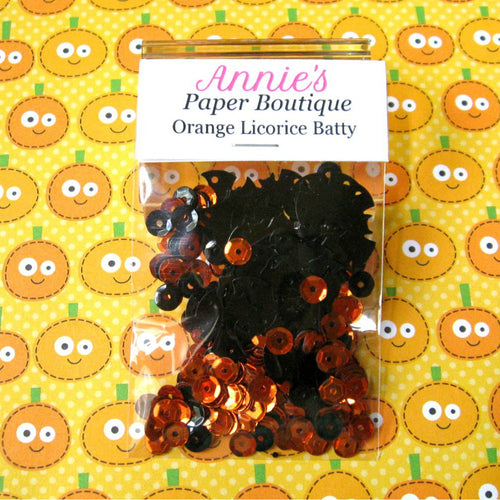 Orange Licorice Batty Sequins