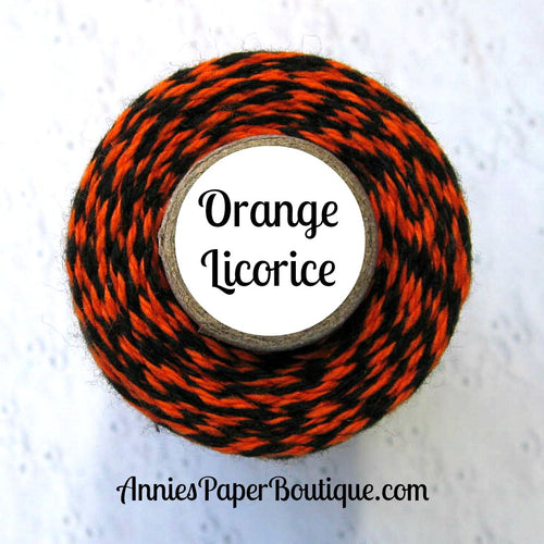 Orange Licorice Trendy Bakers Twine - Orange & Black - Halloween Twine
