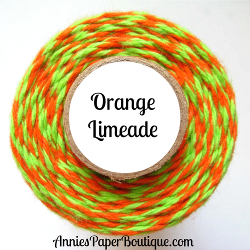 Orange Limeade Trendy Bakers Twine - Orange & Lime Green