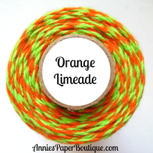 Orange Limeade Trendy Bakers Twine Mini - Orange & Lime Green