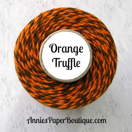 Orange Truffle Trendy Bakers Twine - Pumpkin Orange & Brown - Thanksgiving, Fall