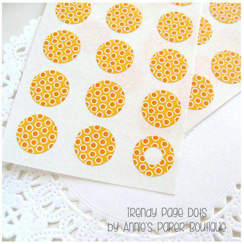 Orangeberry Trendy Page Dots - Orange Circle Reinforcements