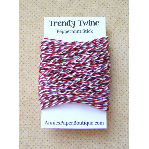 Peppermint Stick Trendy Bakers Twine Mini - Red, Burgundy, & White