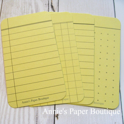 Pineapple Yellow Journaling Cards