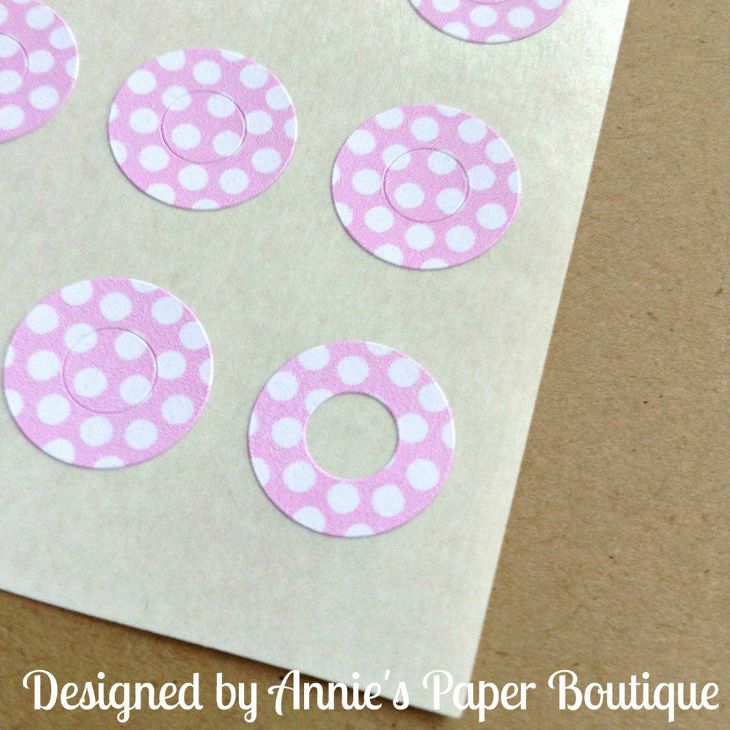 Pink & White Polka Dots Trendy Page Dots™ - Hole Reinforcers, Planner Stickers