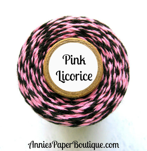 Pink Licorice Trendy Bakers Twine - Pink & Black