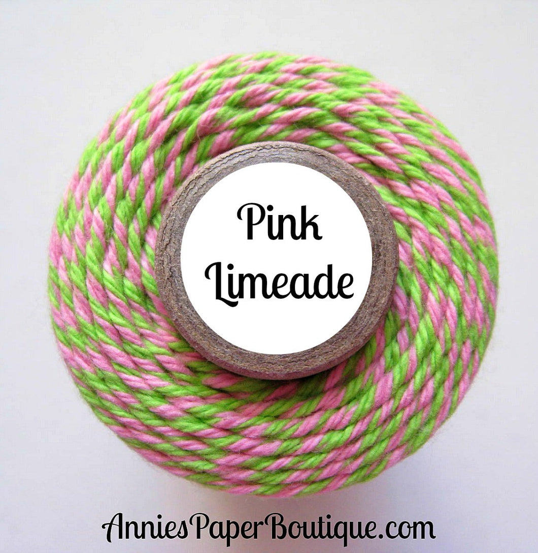 Pink and Lime Green Trendy Bakers Twine