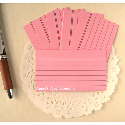 Pink Mini Index Cards