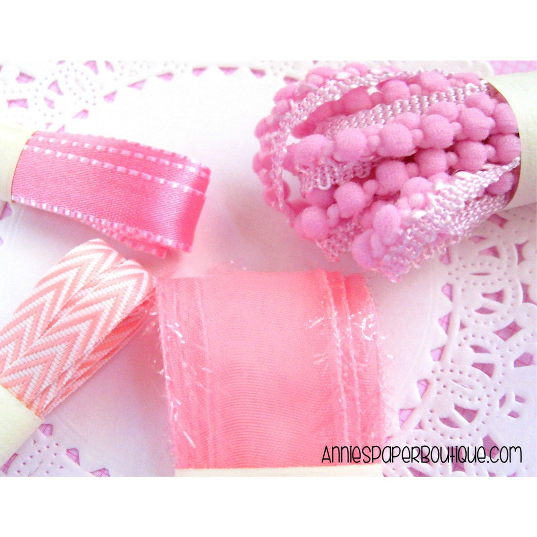Pretty In Pink Ribbon Set