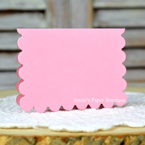 Pink Scallop Note Card