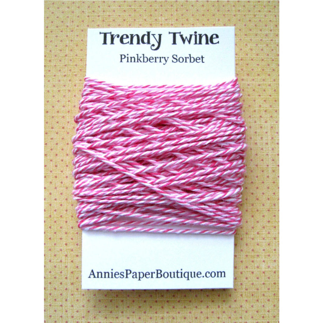 Pinkberry Sorbet Trendy Bakers Twine Mini - Raspberry, White, & Pink