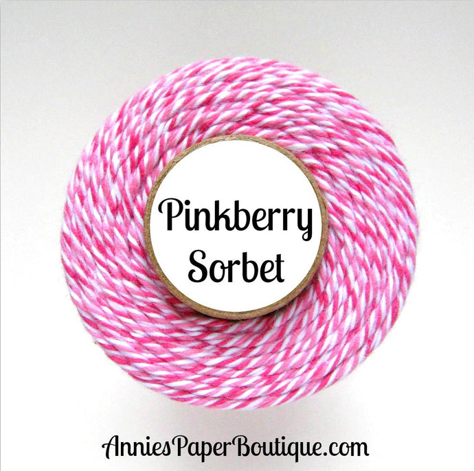 Pinkberry Sorbet Trendy Bakers Twine - Raspberry, White, & Pink