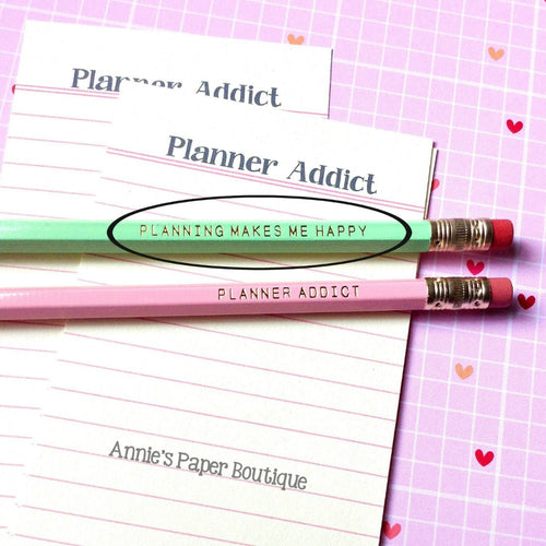 Planning Makes Me Happy Pencils - Mint Green