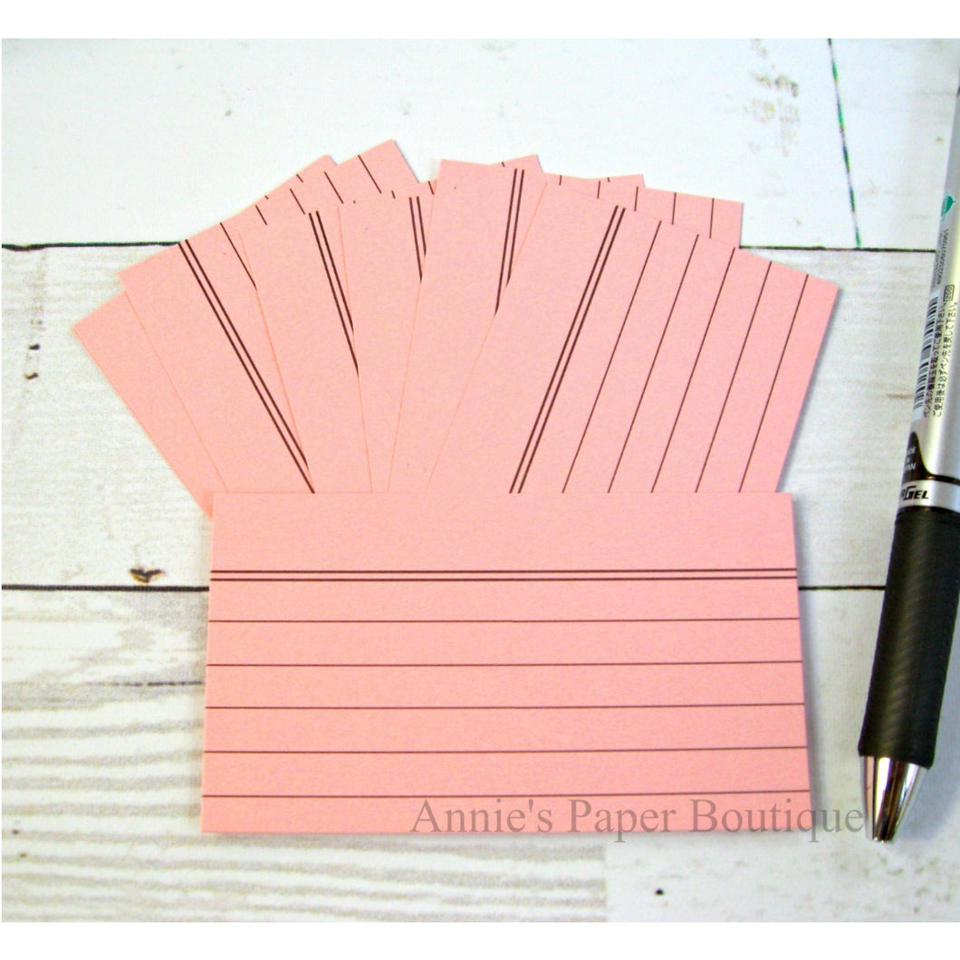 Posy Pink Mini Index Cards