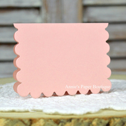 Posy Pink Scallop Note Card