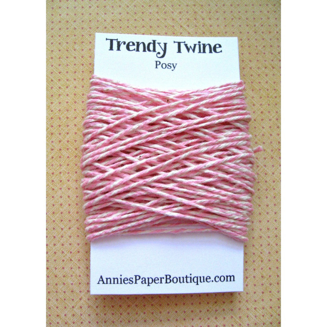 Posy Trendy Bakers Twine Mini - Pink & Natural