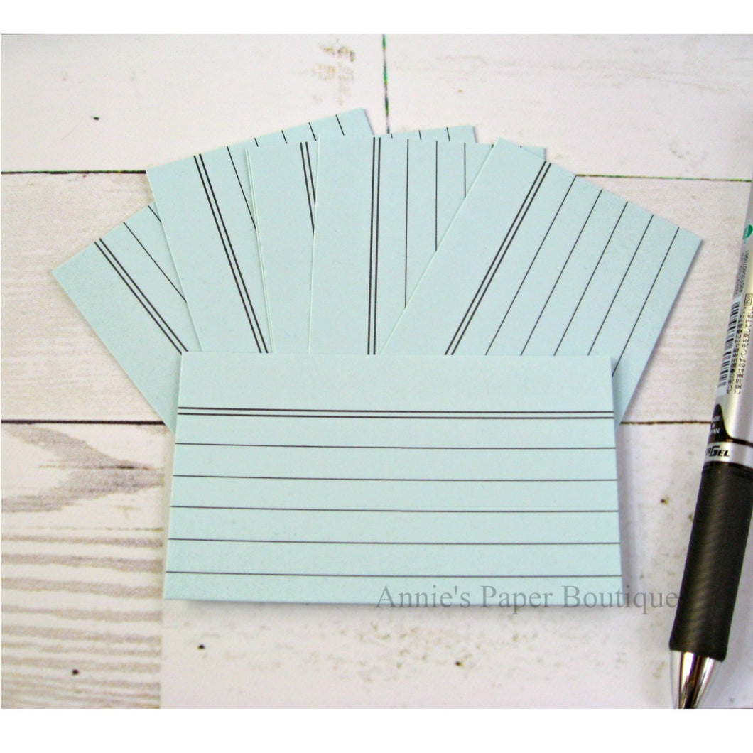Powder Blue Mini Index Cards