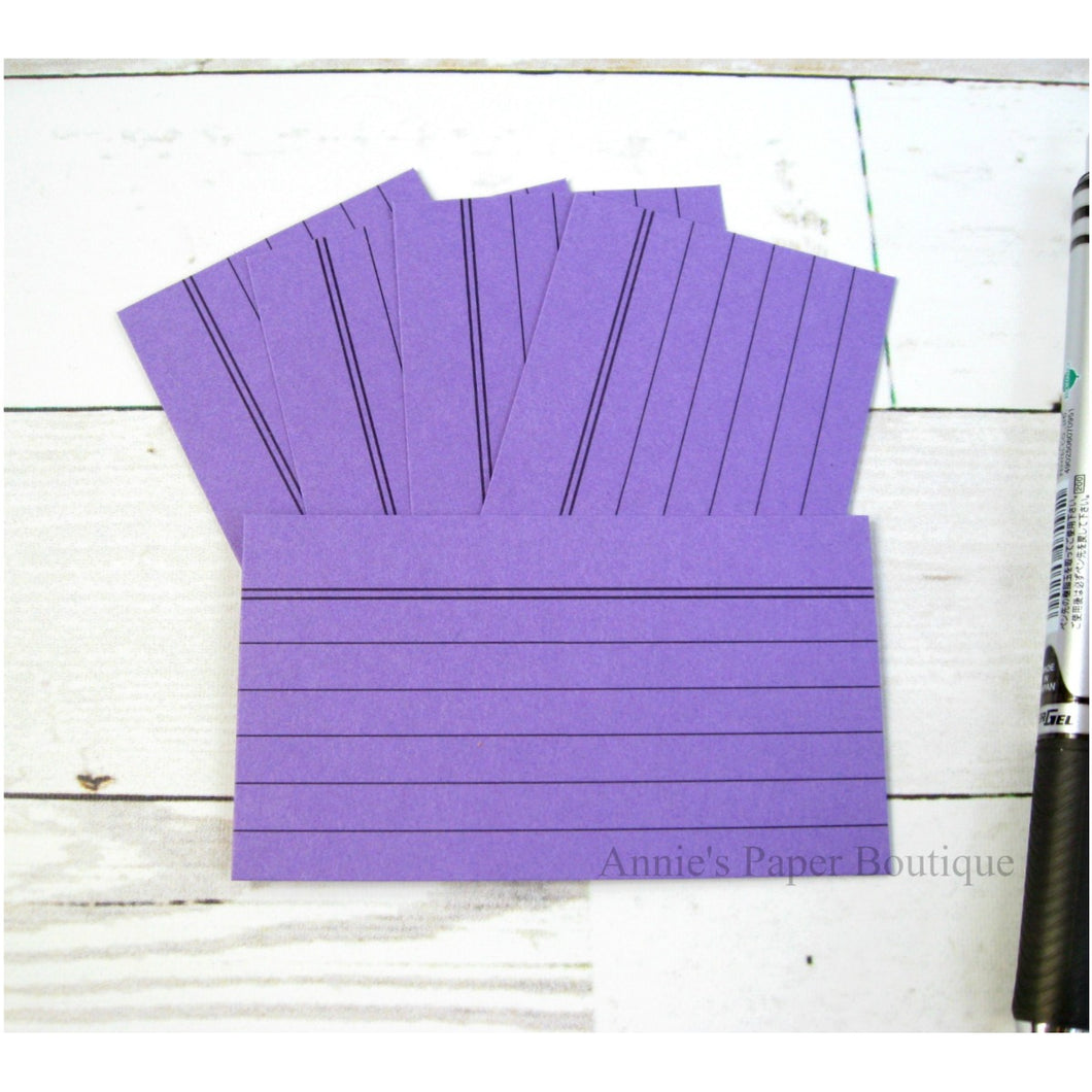 Purple Mini Index Cards