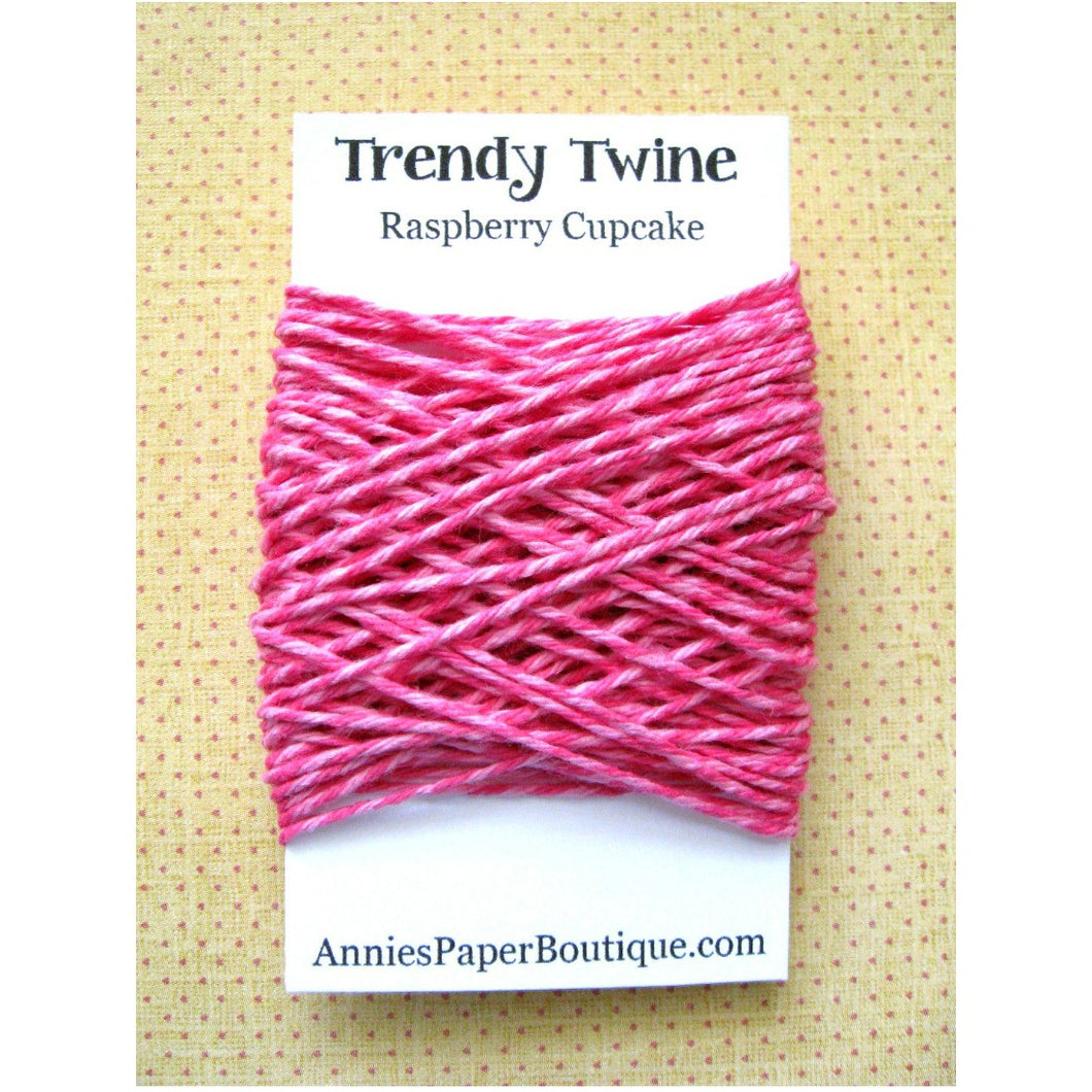 Raspberry Cupcake Trendy Bakers Twine Mini - Raspberry & Pink