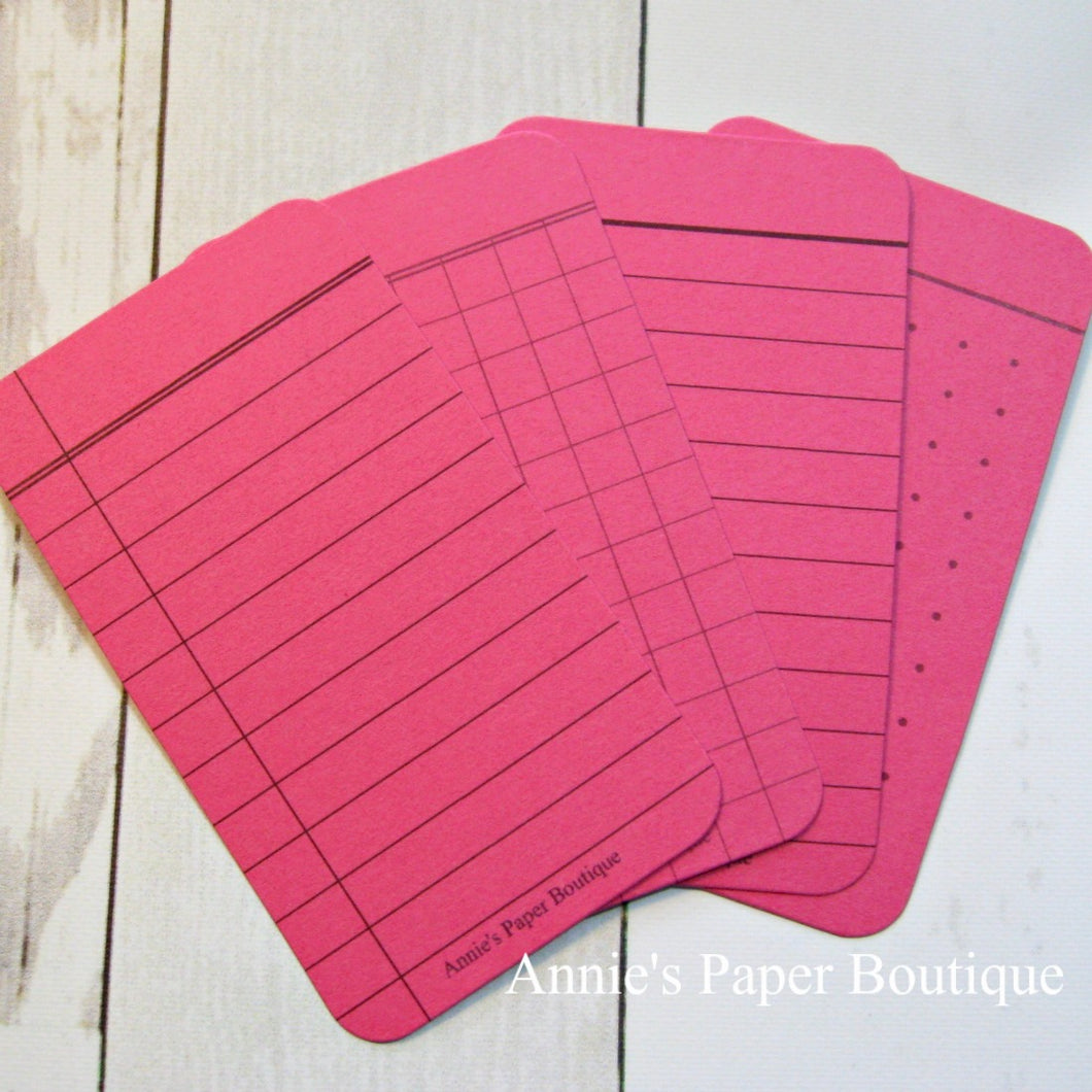 Raspberry Pink Journaling Cards