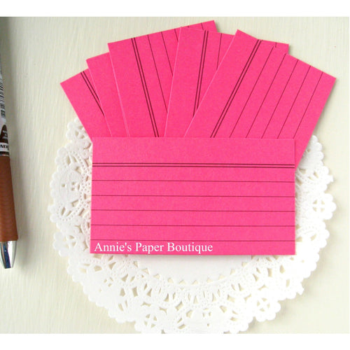 Raspberry Mini Index Cards