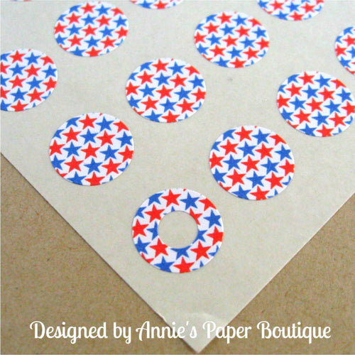 Red & Blue Stars Trendy Page Dots™ - Reinforcements