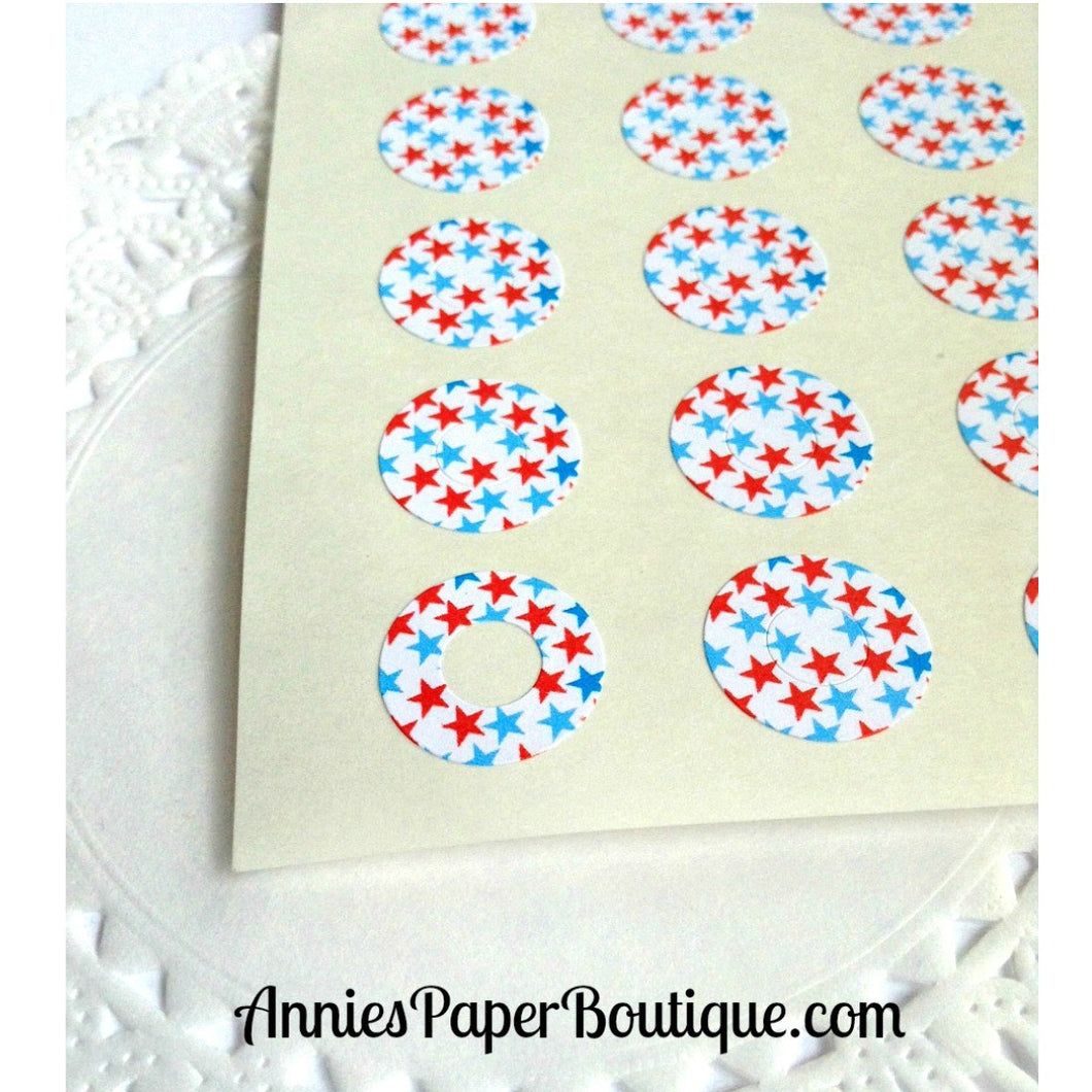 Red & Light Blue Stars Trendy Page Dots™ - Reinforcements