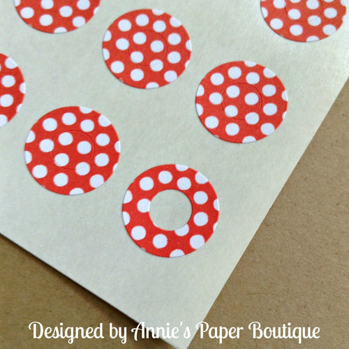 Red & White Polka Dots Trendy Page Dots™ - Hole Reinforcers, Planner Stickers