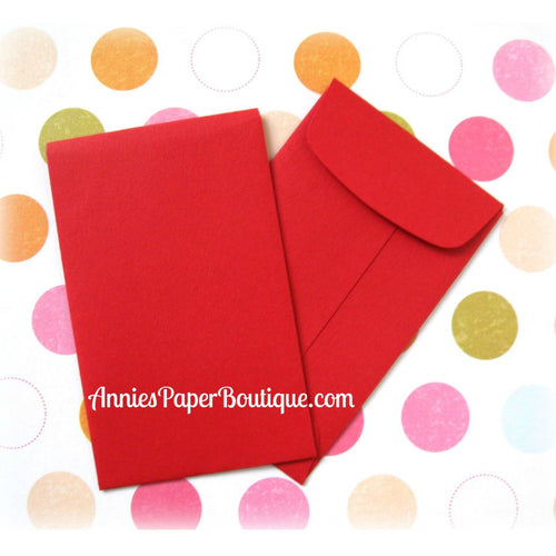 Red Coin Envelopes, Mini Open End