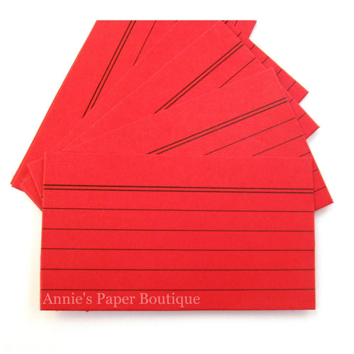 Mini Index Cards - Red