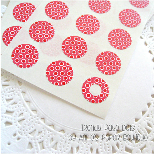 Redberry Trendy Page Dots - Circle Reinforcements