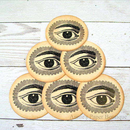 Round Eye Vintage Inspired Tags