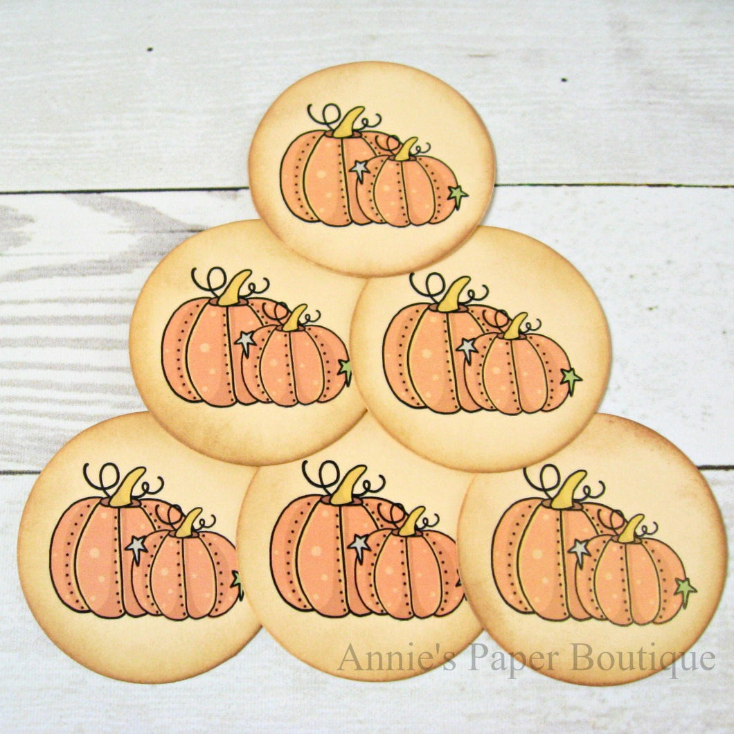 Fall Pumpkin Vintage Inspired Tags