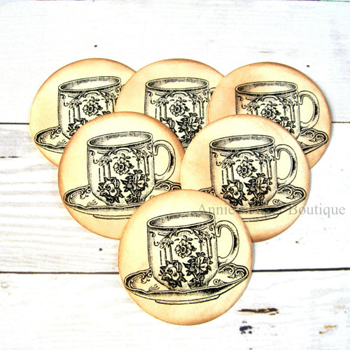 Round Teacup Tags