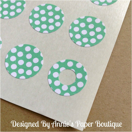 Seafoam & White Polka Dots Trendy Page Dots™ - Hole Reinforcers, Planner Stickers