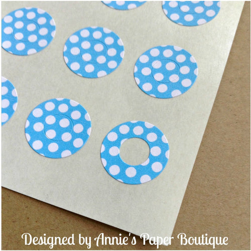 Sky Blue & White Polka Dots Trendy Page Dots™ - Hole Reinforcers, Planner Stickers