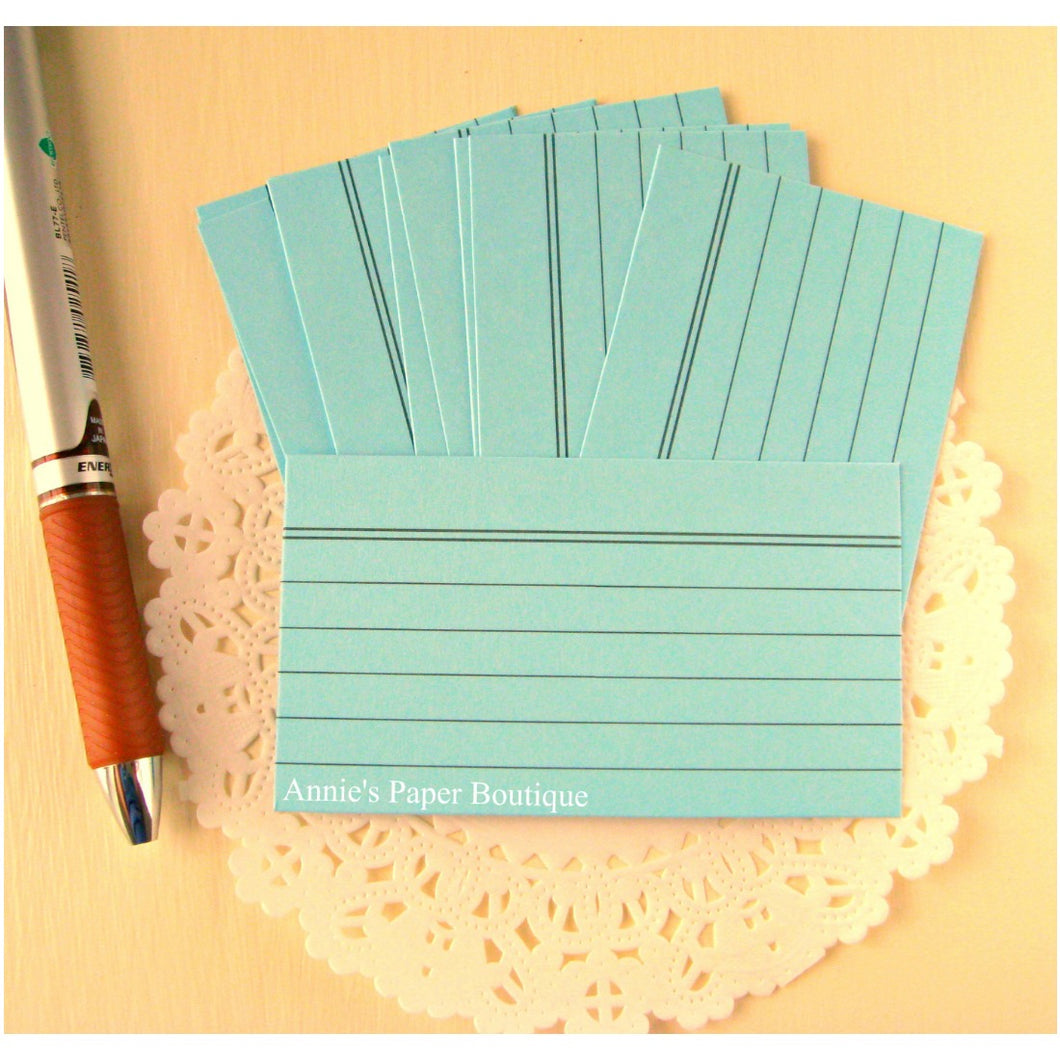Sky Blue Mini Index Cards