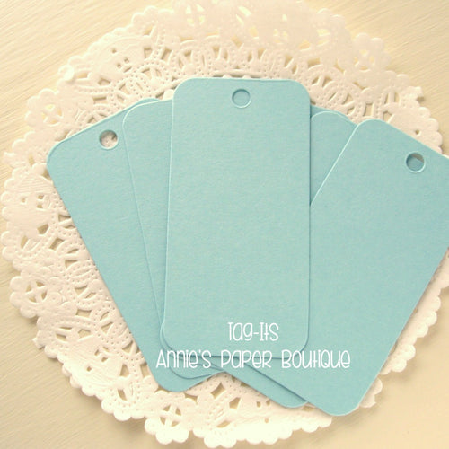 Sky Blue Tag-Its, Cardstock Hang Tags