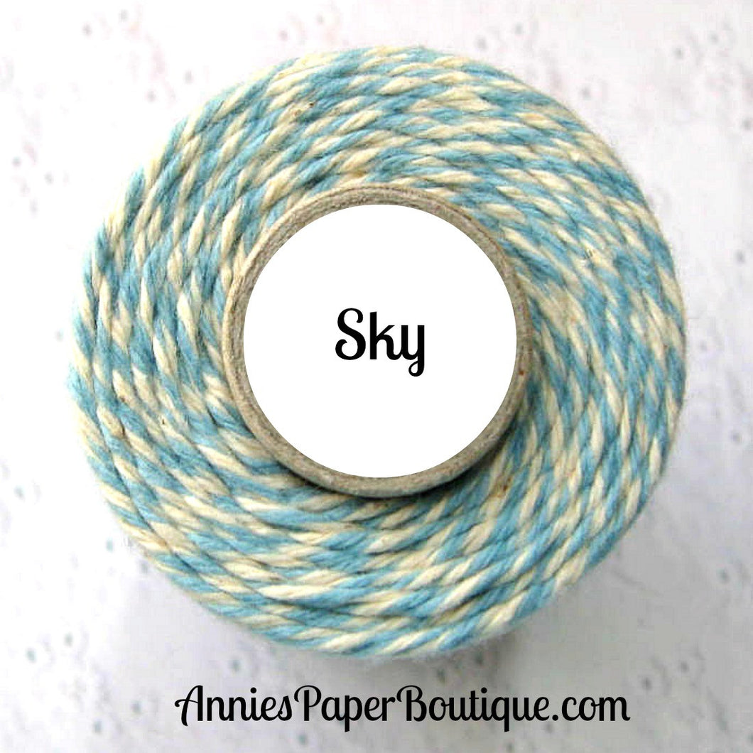 Sky Trendy Bakers Twine - Light Blue & Natural White, Cream