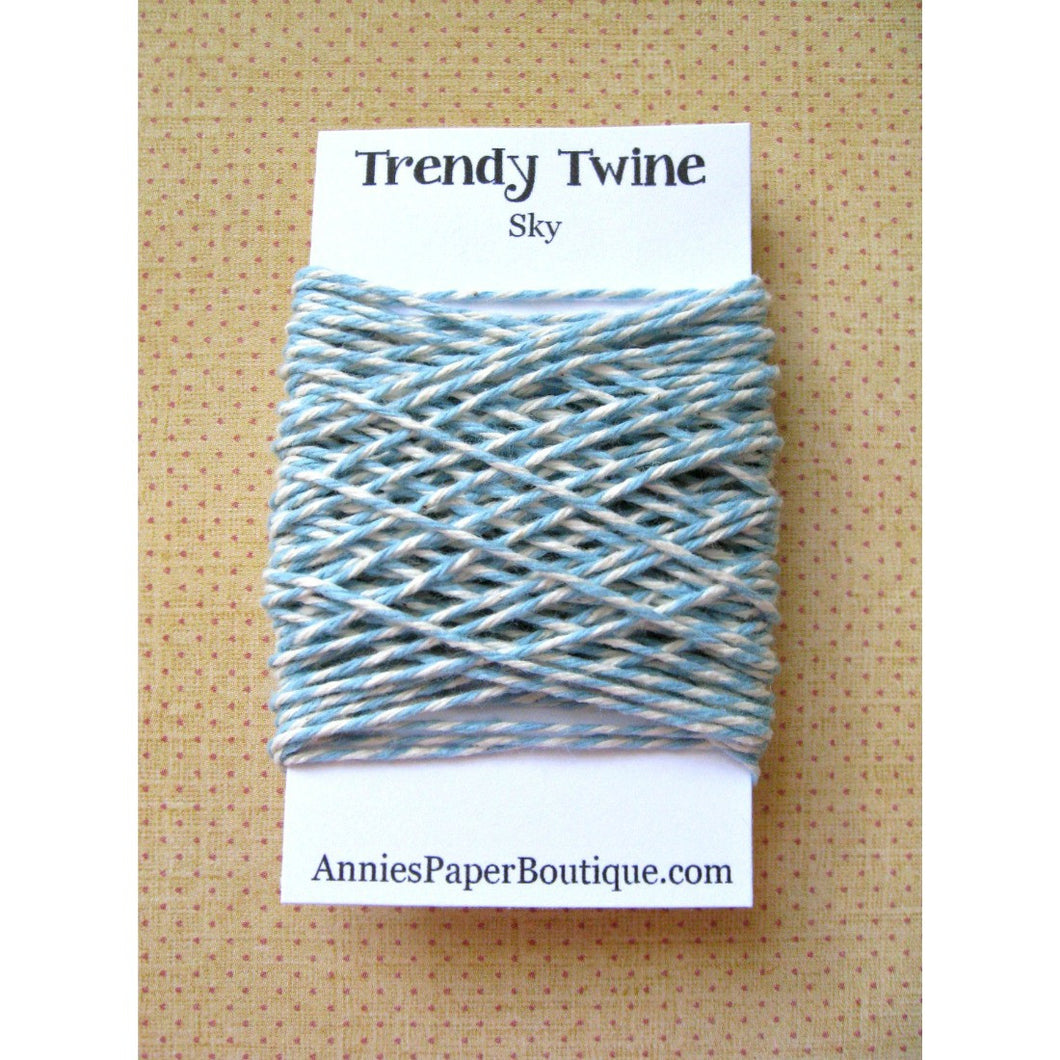 Sky Trendy Bakers Twine - Light Blue & Natural