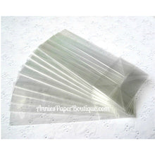 """Small Treat Sacks - 2"""" x  1-1/2"""" x 5"""" Clear Gusset Bags"""